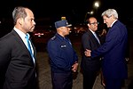 Secretary Kerry Shakes Hands With Dominican Airport and Security Officials Upon Arrival in Santo Domingo (27561718242).jpg
