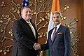 Secretary Pompeo Meets With Indian Foreign Minister Jaishankar (48131447526).jpg