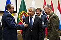 Secretary of Defense Chuck Hagel meets with Air Force General Philip Breedlove and General Joseph Dunford (2).jpg