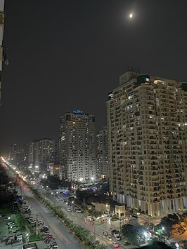 Sector 78 Noida with Moonlight.jpg