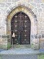 Sedmihorky, kostel sv. Jiří, dveře od věže.JPG