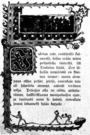 Finnish literature - The front page of Alexis Kivi's Seitsemän veljestä, 1870