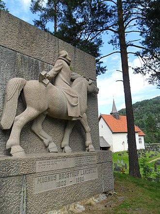 Magnus Brostrup Landstad - Memorial to Magnus Landstad at Seljord
