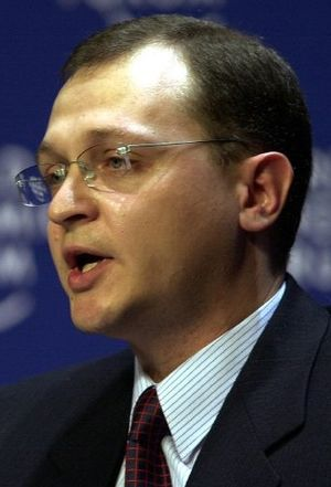 Russian legislative election, 1999 - Image: Sergei Kirienko World Economic Forum Annual Meeting Davos 2000 (cropped)