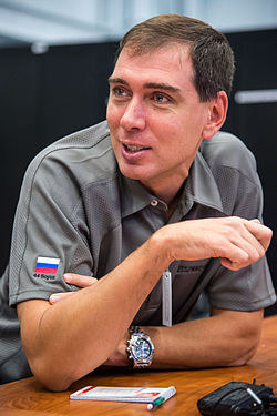 Sergey Volkov during an emergency scenarios training session at JSC.jpg