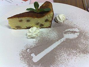 Raisin cake - Image: Sernik