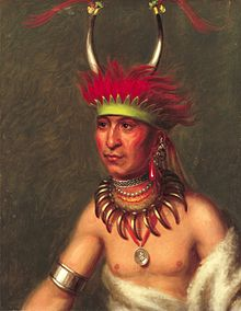 Shaumonekusse - Prairie Wolf - by Charles Bird King, c1822.jpg