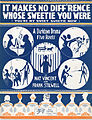 Sheet music cover - IT MAKES NO DIFF'RENCE WHOSE SWEETIE YOU WERE - (YOU'RE MY SWEET SWEETIE NOW) - A DARKTOWN DRAMA IN FIVE REELS (1918).jpg