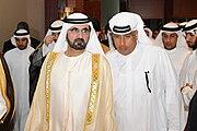 Sheikh Mohammed bin Rashid Al Maktoum with Ahmad Abdulla AlShaikh