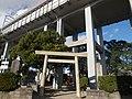 Shrine on Tokaido Shinkansen under viaduct in Nagoya.jpg