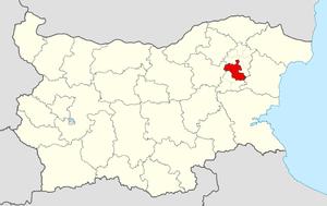 Shumen Municipality - Image: Shumen Municipality Within Bulgaria