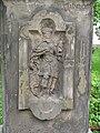 Siřejovice, reliéf se svatým václavem na dříku sochy.JPG