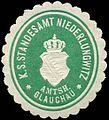 Siegelmarke Königlich Sächsisches Standesamt Niederlungwitz - Amtshauptmannschaft Glauchau W0252066.jpg