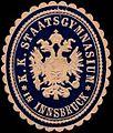 Siegelmarke K.K. Staatsgymnasium in Innsbruck W0247244.jpg