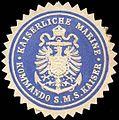 Siegelmarke Kaiserliche Marine - Kommando S. M. S. Kaiser W0215793.jpg