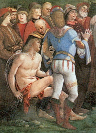Testament and Death of Moses - Detail of the fresco.