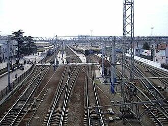 Simferopol railway station - Image: Simf rail plf