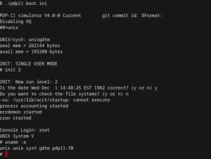 The uname command on UNIX System V