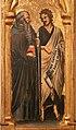 Simone dei crocifissi (attr.), sportelli con annunciazione e quattro santi, 1355-90 ca. 02 jacopo e bartolomeo.jpg