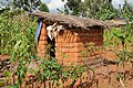 Simple pit latrine (household toilet, Cankuzo) (6915220537).jpg