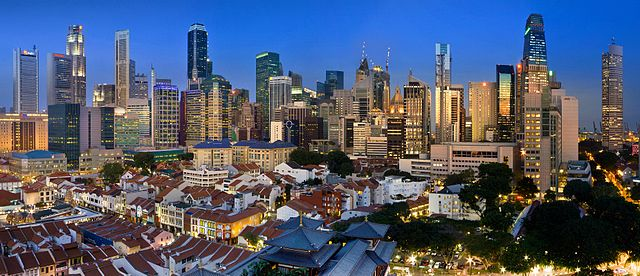 Singapore skyline, image credit: Someformofhuman via Wikipedia