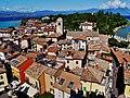 Sirmione Castello Scaligero Blick vom Mastio auf Sirmione 03.jpg