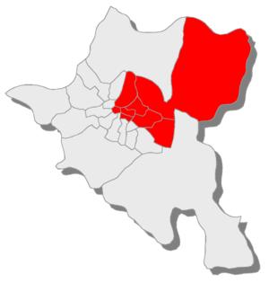 24th MMC – Sofia-city 24 - Карта на районите, които влизат в МИР 24