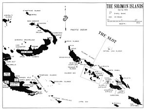 Donald Gilbert Kennedy - The Solomon Islands with the New Georgias highlighted