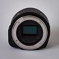 Sony Alpha ILCE-QX1 APS-C-frame camera without body cap front.jpeg
