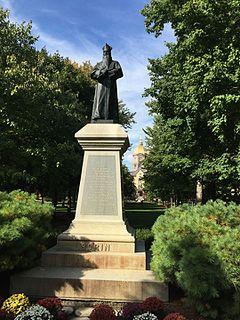 <i>Edward F. Sorin</i> (statue) sculpture by Italian sculptor Ernesto Biondi