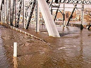 1997 Red River flood in the United States - Image: Sorlie bridge 1997
