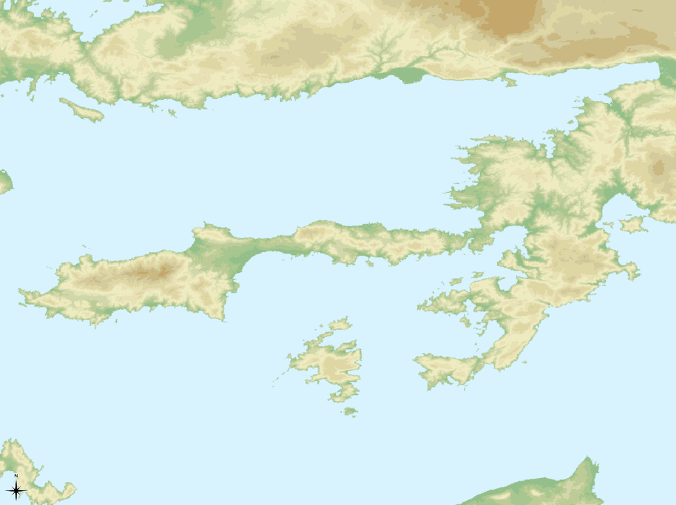 Amos is located in South Caria