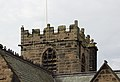 South side of the tower of St Oswald's, Bidston.jpg