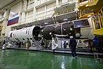 Soyuz MS-12 spacecraft in the integration facility (5).jpg