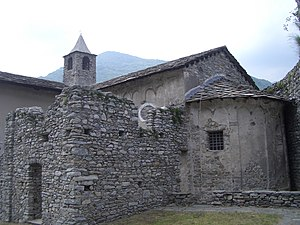 Arduin of Ivrea - The fortified church of Santa Croce at Sparone, also known as the Rocca di Sparone or Rocca di Arduino, is the site where, according to tradition, Arduin held out against the besieging Emperor Henry