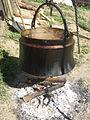 Spremanje gulaša pored reke Dičine.jpg