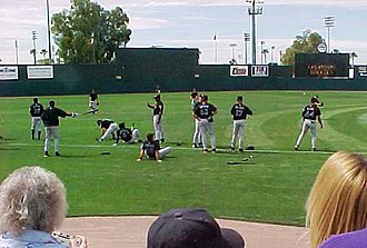 Hi Corbett Field - Image: Spring training warmup at Hi Corbett Field