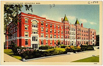 Springfield College (Massachusetts) - Historic postcard: Springfield College