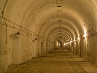 Anlage Süd - The former railway bunker at Stępina where the train of Benito Mussolini stayed in August 1941