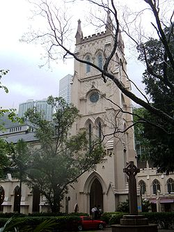 St. John's Cathedral, HK bell tower.JPG