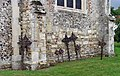 St Andrew, Buckland, Herts - Iron crosses in churchyard - geograph.org.uk - 368069.jpg