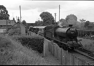 Montrose and Bervie Railway - St Cyrus railway station with Scottish rail tour in 1960