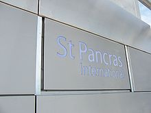 New signage at St Pancras reflects the changing status of the station