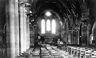 St Stephen's Church, Kirkstall - Interior prior to 1914.