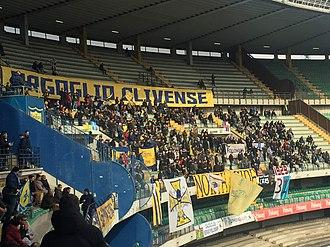 Stadio Marc'Antonio Bentegodi - The stadium's Curva Nord in 2019, usually reserved for Chievo's fanbase.