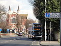 Stagecoach Portsmouth 18191 MX54 LPY and Portsmouth St John's Cathedral.JPG