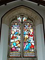 Stained glass window, St Mary Magdalen church, Winterbourne Monkton - geograph.org.uk - 1056758.jpg