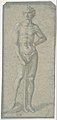Standing Youth Holding a Club (recto); Temptation of Adam and Eve (verso) MET DP809426.jpg