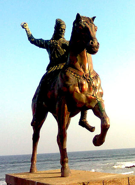 चित्र:Statue of Chatrapathi Shivaji at Bheemili beach.jpg