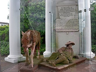 Maxwelltown - Statue of Old Mortality and his pony (The Sinclair Memorial)